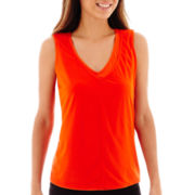 Worthington® Double-Layer V-Neck Tank Top - Petite