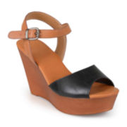 Journee Collection Ankle-Strap Platform Wedges
