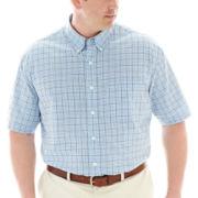 IZOD® Short-Sleeve Poplin Shirt-Big & Tall