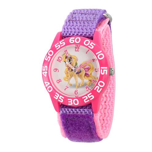 Disney Girls Palace Pets Purple and Pink Blondie Time Teacher Strap Watch W002829