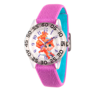 jcpenney.com | Disney Girls Palace Pets Purple Treasure Time Teacher Strap Watch W002840