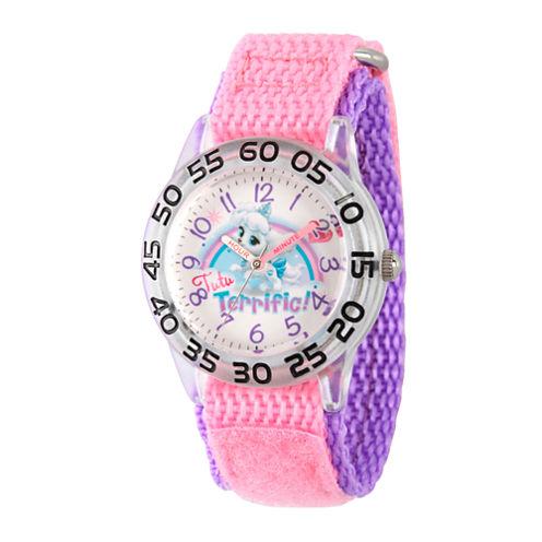 Disney Girls Palace Pets Pink Pumpkin Time Teacher Strap Watch W002845