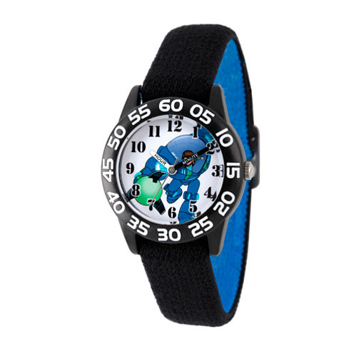 Disney Boys Black Miles From Tomorrowland Time Teacher Strap Watch W003050