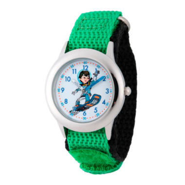 jcpenney.com | Disney Boys Green Miles From Tomorrowland Time Teacher Strap Watch W003053