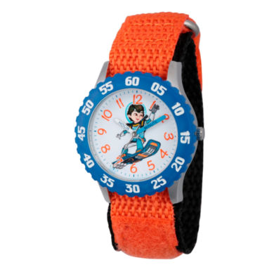 jcpenney.com | Disney Boys Orange and Blue Miles From Tomorrowland Time Teacher Strap Watch W003054