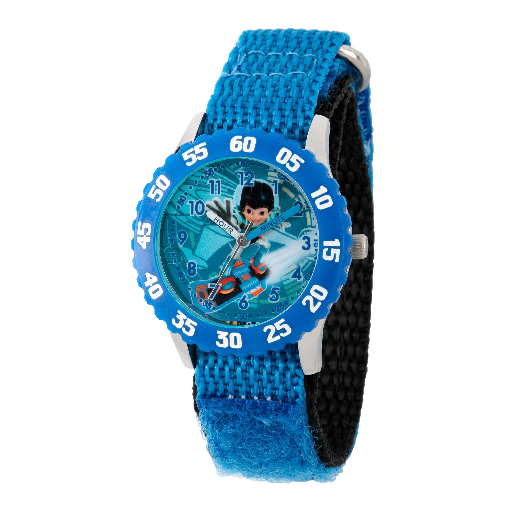 Disney Boys Blue Miles From Tomorrowland Time Teacher Strap Watch W003055
