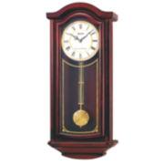 Seiko® Chime Wall Clock With Pendulum Brown Qxh118blh