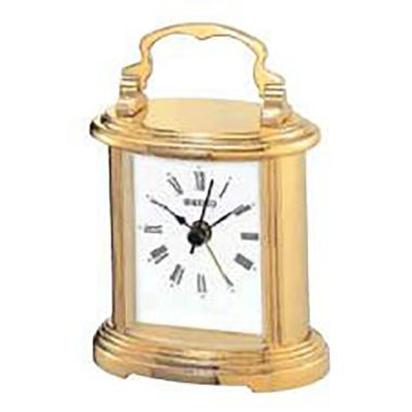 jcpenney.com | Seiko® Carriage Desk And Table Clock With Metal Handle And Alarm Gold Tone Qhe109glh