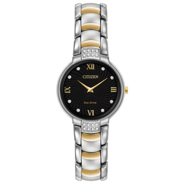 jcpenney.com | Citizen® Eco-Drive Womens Two Tone Diamond Watch Ex1464-54E