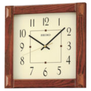 Seiko® Wall Clock Brown Qxa469blh