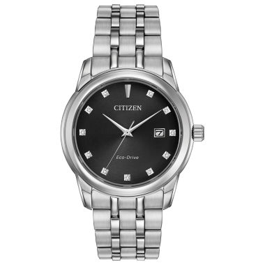 jcpenney.com | Citizen® Eco-Drive Men's Stainless Steel Watch With Diamond Accents Bm7340-55E