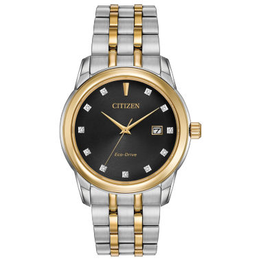 jcpenney.com | Citizen® Eco-Drive Men's Two Tone Watch With Diamond Accents Bm7344-54E