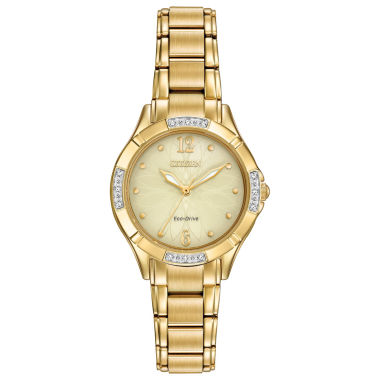 jcpenney.com | Citizen® Eco-Drive Ladies' Gold Tone Watch With Diamond Accents Em0452-58P