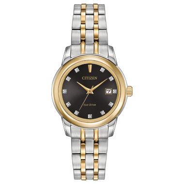 jcpenney.com | Citizen® Eco-Drive Ladies' Two Tone Watch With Diamond Accents Ew2394-59E