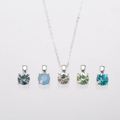 Gloria Vanderbilt Interchangeable Pendant Necklace Set
