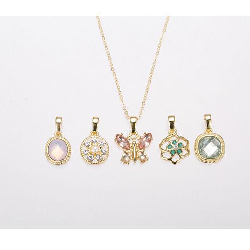 Gloria Vanderbilt Gold-Tone Interchangeable Pendant Necklace Set