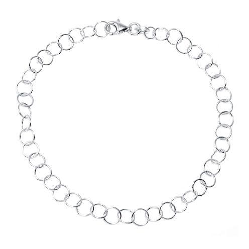 "Silver Reflections™ Sterling Silver 7.5"" Open Link Bracelet"