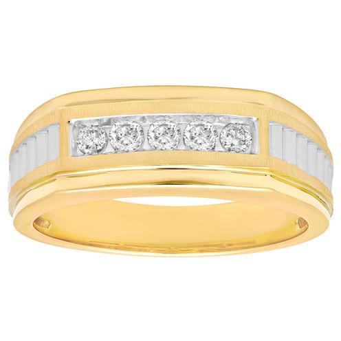 Mens 1/4 CT. T.W. Diamond 10K Yellow Gold Wedding Band