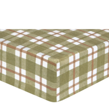 jcpenney.com | Trend Lab® Deer Lodge Plaid Flannel Fitted Crib Sheet