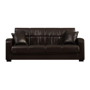 jcpenney.com | Sammy Track-Arm Faux-Leather Convert-a-Couch®
