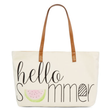 jcpenney.com | Straw Studios Graphic Canvas Tote