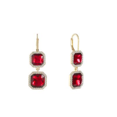 Monet Jewelry Monet Jewelry Red Drop Earrings tjruJm4E