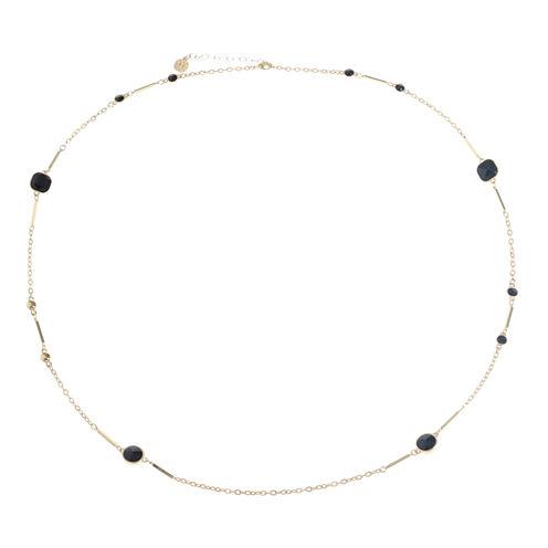 Monet Jewelry Womens Black Strand Necklace