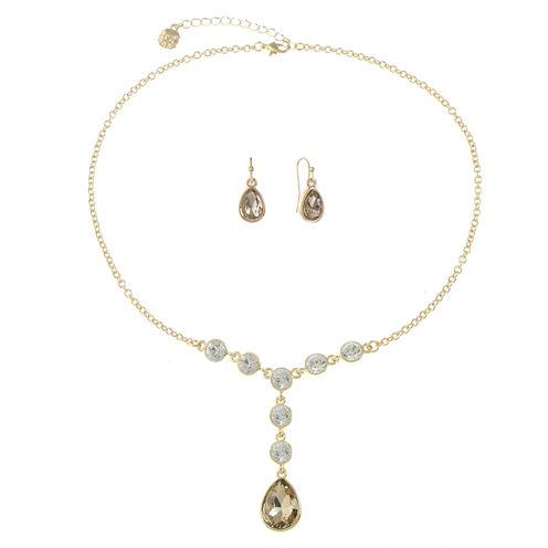 Monet Jewelry Womens 2-pc. Clear Jewelry Set