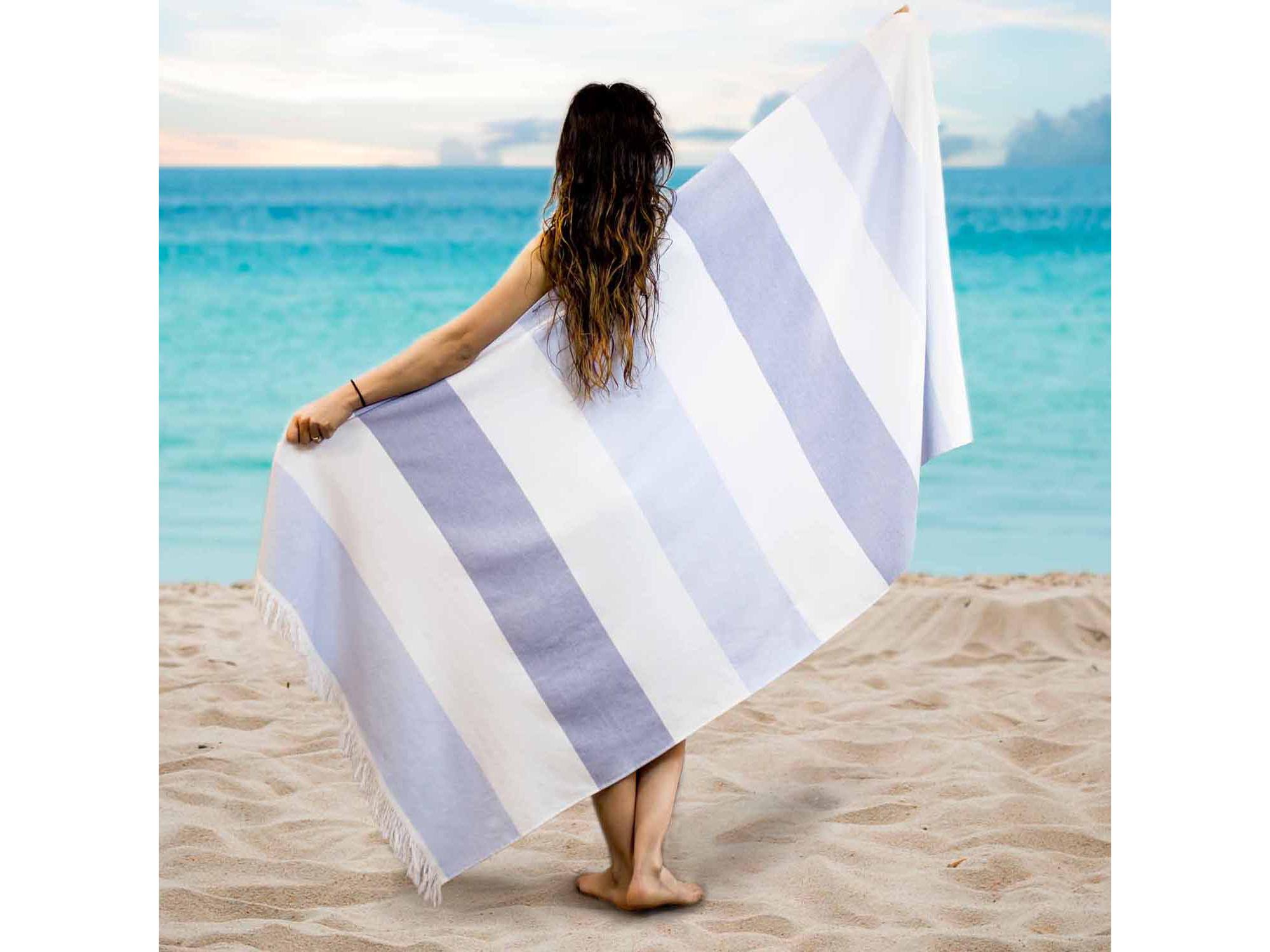 Pacific Coast Textiles Fouta Yarn Dyed Beach Towel