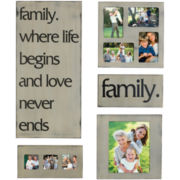 5-pc. Family Plaque and Collage Picture Frame Set