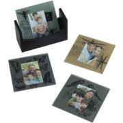 Set of 4 Nature Print Photo Coasters