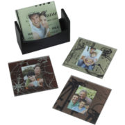 Set of 4 Maps And Drawings Photo Coasters