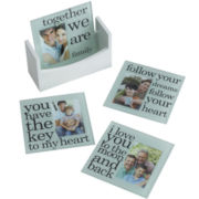 Set of 4 Sentiment Photo Coasters