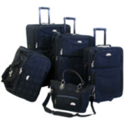 American Flyer Argyle 5-pc. Expandable Upright Luggage Set