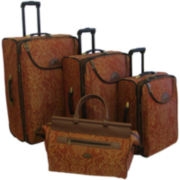 American Flyer Paisley 4-pc. Expandable Upright Luggage Set