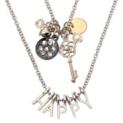 "Decree® Make Your Own Word - ""Happy"" 2-Row Necklace"