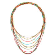 Decree® Multi-Row Seed Beads Necklace