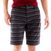 Arizona Striped Flat-Front Shorts