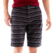 Arizona Striped Flat-Front Shorts