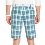 IZOD® Golf Plaid Shorts