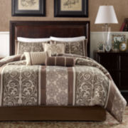 Madison Park Ariana 7-pc. Striped Comforter Set