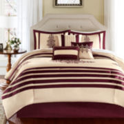 Madison Park Savannah 7-pc. Striped Comforter Set
