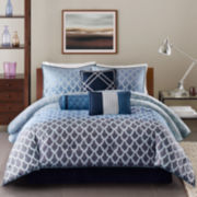 Madison Park Sidney 7-pc. Jacquard Ombré Comforter Set