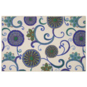 Queeny Floral Rectangular Rugs