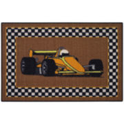 Race Car Rectangular Rugs
