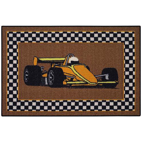 Race Car Rectangular Rug