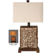 Freeport Rattan and Wood Table Lamp