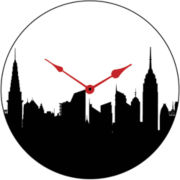 New York Silhouette Wall Clock