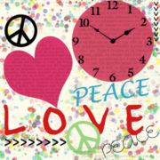 Peace/Love Wall Clock