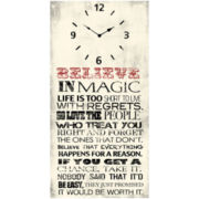 Believe in Magic Wall Clock